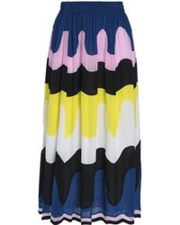 Emilio Pucci - Printed Silk Midi Skirt Royal Blue - Lyst