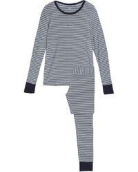DKNY - Striped Modal-blend Jersey Pyjama Set Grey - Lyst