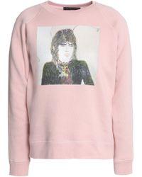 ALEXACHUNG - Printed French Cotton-terry Sweatshirt - Lyst