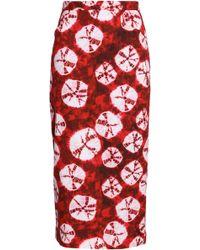 Stella Jean - Tie-dyed Cotton Midi Skirt - Lyst