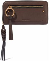 See By Chloé - Textured-leather Continental Wallet - Lyst