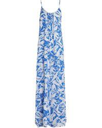 Melissa Odabash - Gathered Floral-print Crepe De Chine Coverup - Lyst