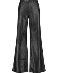 J Brand | Carine Leather Wide-leg Trousers | Lyst