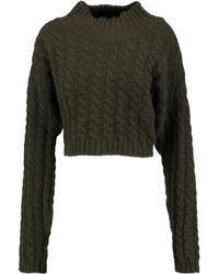 Vivienne Westwood Anglomania | Cable-knit Wool-blend Jumper Army Green | Lyst
