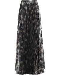 Vilshenko - Metallic Floral-print Woven Maxi Skirt - Lyst