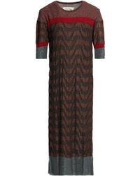 By Malene Birger - Metallic Jacquard-knit Midi Dress - Lyst