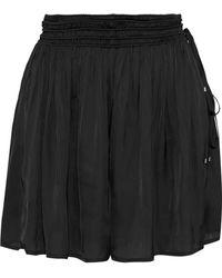 Halston - Gathered Charmeuse Shorts - Lyst