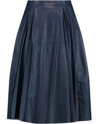 Iris & Ink - Cynthia Pleated Leather Skirt - Lyst