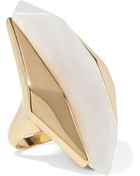 Noir Jewelry - Woman Light Beam 14-karat Gold-plated Resin Ring Gold Size 6 - Lyst