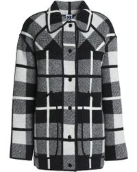 M Missoni - Checked Wool Coat - Lyst