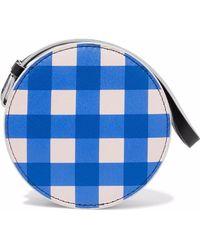 Diane von Furstenberg - Circle Gingham Leather Pouch - Lyst