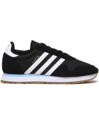 adidas Originals - Leather-trimmed Suede And Knitted Trainers - Lyst
