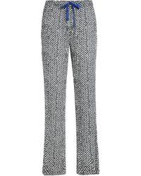 Calvin Klein - Printed Crepe Pajama Pants - Lyst