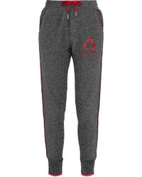 Zoe Karssen - Embroidered Tweed Track Trousers - Lyst