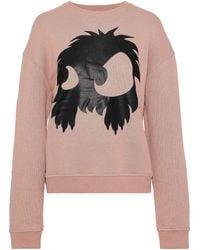 McQ Printed French Cotton-terry Sweatshirt Blush - Multicolor