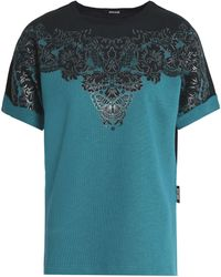 Just Cavalli - Printed French Cotton-blend Terry Top - Lyst