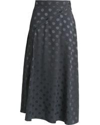 Nina Ricci - Silk-jacquard Midi Skirt - Lyst