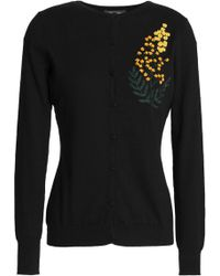 Zac Posen - Embroidered Cotton, Silk And Cashmere-blend Cardigan - Lyst