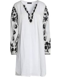 Antik Batik | Pintucked Embroidered Cotton-gauze Mini Dress | Lyst
