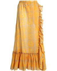 lemlem - Ruffle-trimmed Printed Cotton-mousseline Maxi Skirt - Lyst