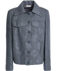 Nina Ricci - Coated Wool-blend Jacket - Lyst
