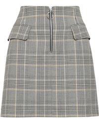 Baum und Pferdgarten Zip-detailed Prince Of Wales Checked Woven Mini Skirt Light Gray