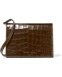 Victoria Beckham - Star Leather Shoulder Bag Army Green - Lyst