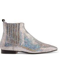JOSEPH - Glittered Leather Chelsea Boots - Lyst