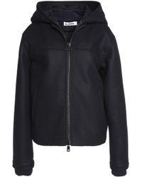 Jil Sander - Hooded Virgin Wool-blend Jacket Midnight Blue - Lyst