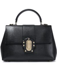Dolce & Gabbana - Lizard-effect Leather Tote - Lyst