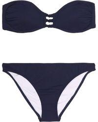 Iris & Ink - Sadie Knotted Bandeau Bikini - Lyst