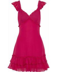 Cinq À Sept - Ruffled Silk-chiffon Mini Dress - Lyst
