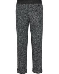 Bailey 44 - Woodsman Cropped Marled Tweed Straight-leg Pants - Lyst