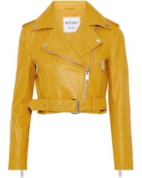 W118 by Walter Baker - Shirley Cropped Leather Biker Jacket - Lyst