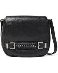 Diane von Furstenberg - Iggy Chain-embellished Textured-leather Shoulder Bag - Lyst