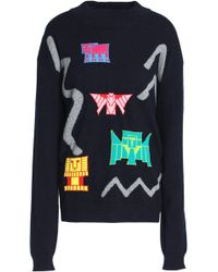 Peter Pilotto - Intarsia-knit Wool-blend Sweater - Lyst