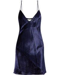 Fleur du Mal - Velvet Slip Dress - Lyst