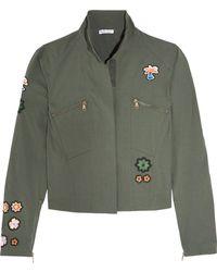 Tomas Maier - Appliquéd Cotton-blend Poplin Jacket - Lyst