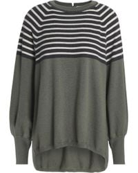 Brunello Cucinelli - Bead-embellished Striped Cashmere Sweater - Lyst