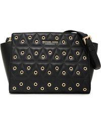 MICHAEL Michael Kors - Embellished Quilted Leather Shoulder Bag - Lyst