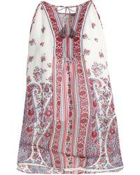 Joie - Printed Silk Crepe De Chine Top - Lyst