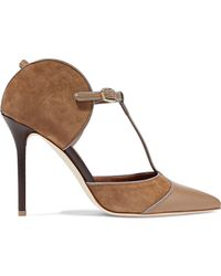 Malone Souliers - Pumps With Leather And Suede - Lyst