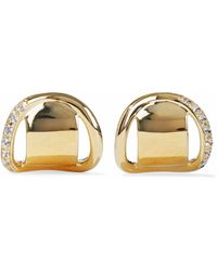 Elizabeth and James - Gold-tone Sterling Silver Crystal Earring - Lyst