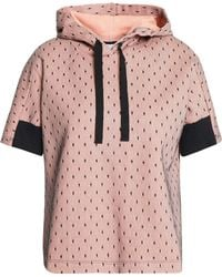 RED Valentino - Layered Point D'esprit And French Cotton-blend Terry Hooded Sweatshirt - Lyst