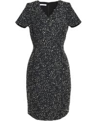 Oscar de la Renta - Panelled Jacquard Dress - Lyst