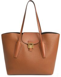 Michael Kors - Bancroft Smooth And Pebbled-leather Tote - Lyst