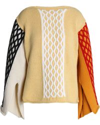 JW Anderson - Color-block Cable-knit Wool-blend Sweater - Lyst
