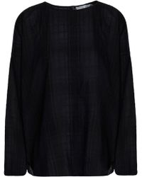 Vince - Embroidered Cotton-gauze Top - Lyst