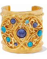 Ben-Amun - Gold-tone Cabochon Cuff - Lyst