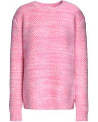 Diane von Furstenberg - Marled Angora-blend Sweater - Lyst